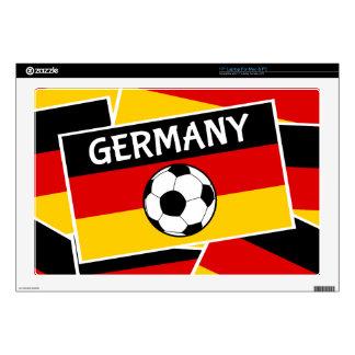 "German Tricolour Flag Football 17"" Laptop Skin"