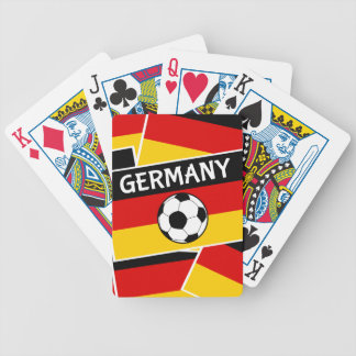 German Tricolour Flag Football Bicycle Playing Cards