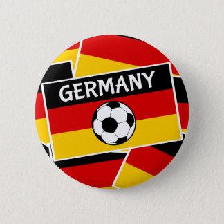 German Tricolour Flag Football Button