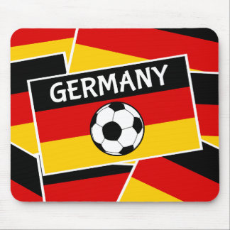 German Tricolour Flag Football Mouse Pad
