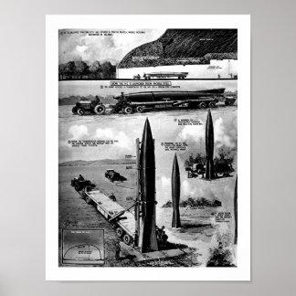 German V-2 Rocket WII Poster
