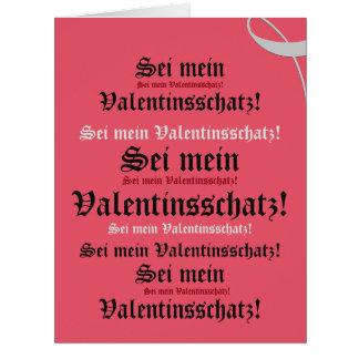 German Valentine's Day card