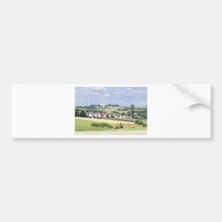 German village houses windmills and corn fields bumper sticker