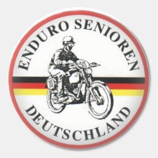 German Vinduro Classic Round Sticker