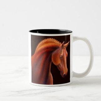 German Warmblood Show Horse Two-Tone Coffee Mug