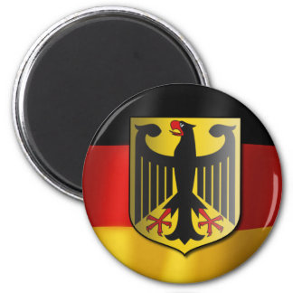 German waving flag magnet