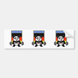 Bumper Sticker with German Weightlifting Panda design