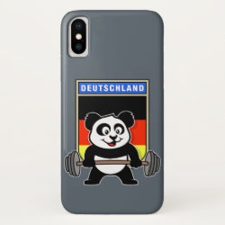 Case-Mate Barely There iPhone X Case with German Weightlifting Panda design