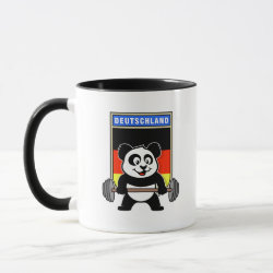 Combo Mug with German Weightlifting Panda design