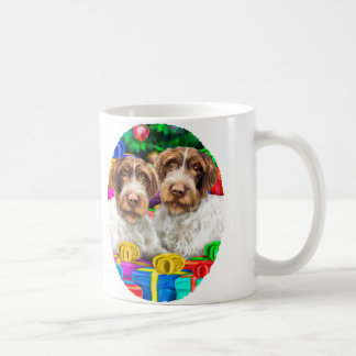 German WH Pointer Open Gifts Christmas Coffee Mug