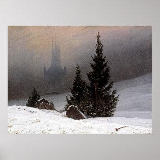 German Winter Landscape - Friedrich Poster