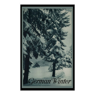 German Winter Poster