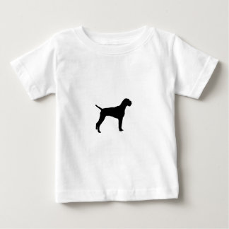German Wire-Haired Pointer Silhouette Love Dogs Baby T-Shirt