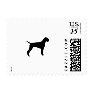 German Wire-Haired Pointer Silhouette Love Dogs Postage