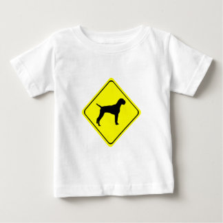German Wire-Haired Pointer Warning Sign Love Dogs Baby T-Shirt