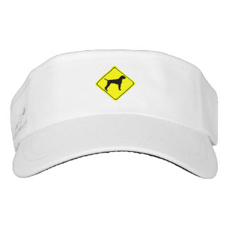 German Wire-Haired Pointer Warning Sign Love Dogs Visor