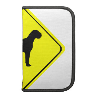 German Wired-Haired Pointer Dog Crossing Sign Planner