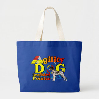 German_Wirehaired_Pointer_Agility Large Tote Bag