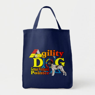German_Wirehaired_Pointer_Agility Tote Bag