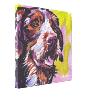 German WireHaired Pointer Art on Stretched Canvas