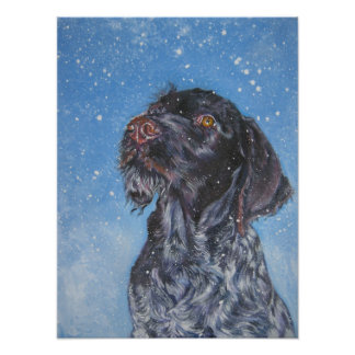 German Wirehaired pointer Art Print