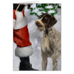 German Wirehaired Pointer Christmas Gifts Card