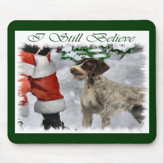 German Wirehaired Pointer Christmas Gifts Mousepads