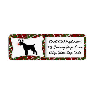 German Wirehaired Pointer Christmas Custom Return Address Labels