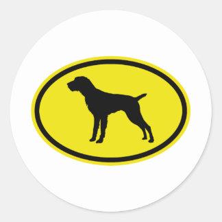 German Wirehaired Pointer Classic Round Sticker