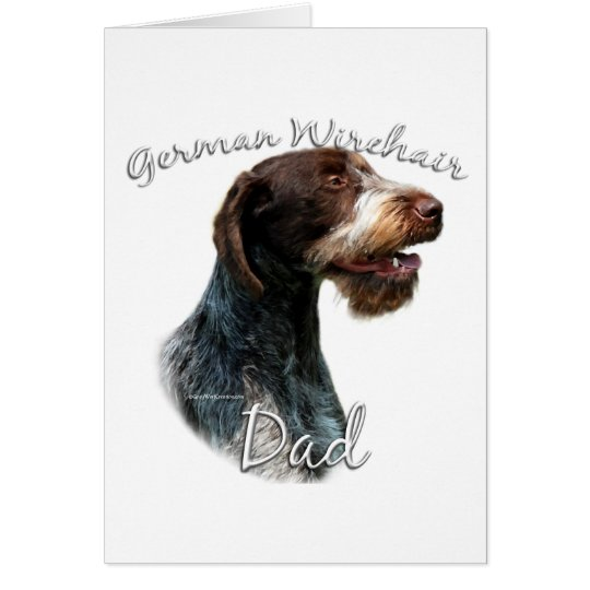 German Wirehaired Pointer Dad 2 Card