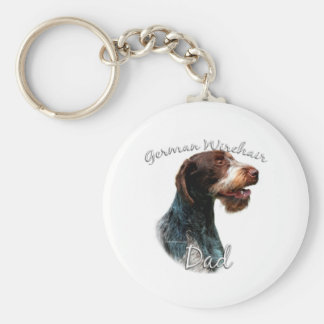 German Wirehaired Pointer Dad 2 Keychain