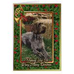 German Wirehaired Pointer Dog Blank Christmas Card