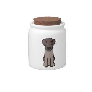 German Wirehaired Pointer Dog Cartoon Candy Jars