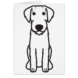 German Wirehaired Pointer Dog Cartoon Cards