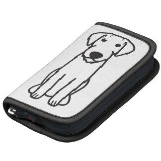 German Wirehaired Pointer Dog Cartoon Folio Planner