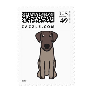 German Wirehaired Pointer Dog Cartoon Stamps