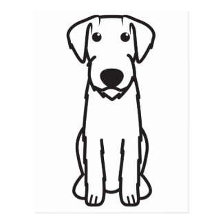 German Wirehaired Pointer Dog Cartoon Post Card