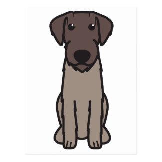 German Wirehaired Pointer Dog Cartoon Postcard
