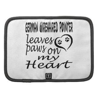 German Wirehaired Pointer Dog Leaves Paw On My Hea Planners