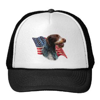 German Wirehaired Pointer Flag Trucker Hat