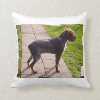 German_Wirehaired_Pointer full.png Throw Pillow