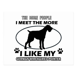 """""""german wirehaired pointer"""" """"german wirehaired poi postcard"""