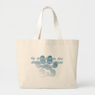 German Wirehaired Pointer Grandchildren Large Tote Bag