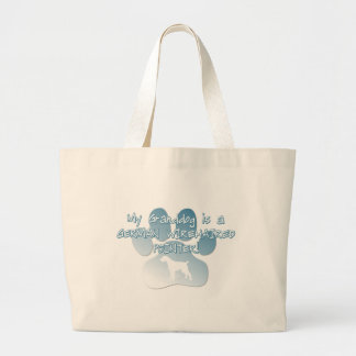 German Wirehaired Pointer Granddog Large Tote Bag