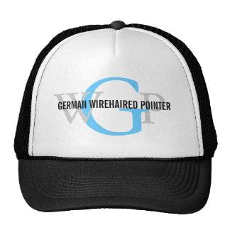 German Wirehaired Pointer Monogram Mesh Hats