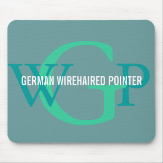 German Wirehaired Pointer Monogram Mouse Pad