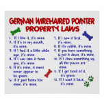 GERMAN WIREHAIRED POINTER PL2 POSTERS