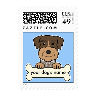 German Wirehaired Pointer Postage Stamps