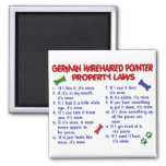 GERMAN WIREHAIRED POINTER Property Laws 2 2 Inch Square Magnet