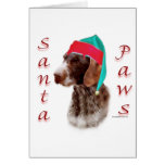 German Wirehaired Pointer Santa Paws Card